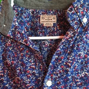 J Crew bright floral casual button down shirt